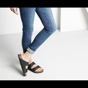 NIB Birkenstock Arizona Vegan Anthracite Sandals